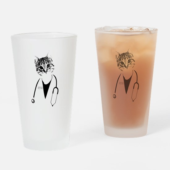 Dr. Cat Drinking Glass