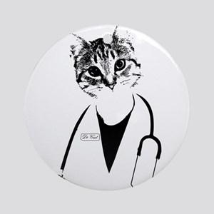 Dr. Cat Ornament (Round)