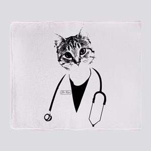 Dr. Cat Throw Blanket