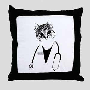 Dr. Cat Throw Pillow