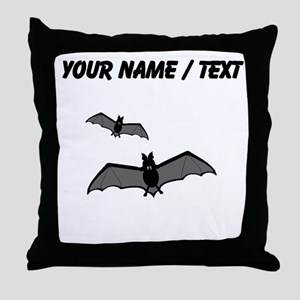 Custom Bats Throw Pillow