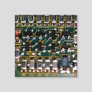 """Circuit Board Square Sticker 3"""" x 3"""""""