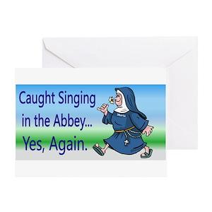 Catholic Nun Greeting Cards
