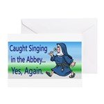 SingingNunPlates Greeting Cards
