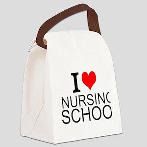 I Love Nursing School Canvas Lunch Bag