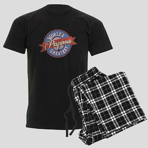 World's Greatest Pappou Men's Dark Pajamas
