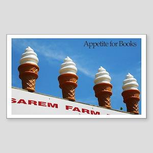 Ice Cream Cone Rectangle Sticker