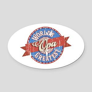 World's Greatest Opa Oval Car Magnet