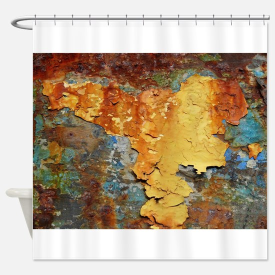 Colors of Rust, rust-art Shower Curtain