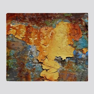 Colors of Rust, rust-art Throw Blanket