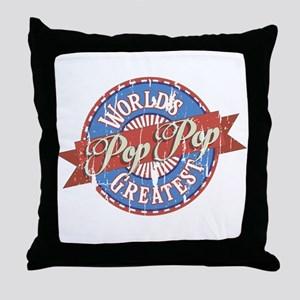 World's Greatest PopPop Throw Pillow