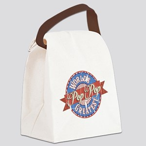 World's Greatest PopPop Canvas Lunch Bag