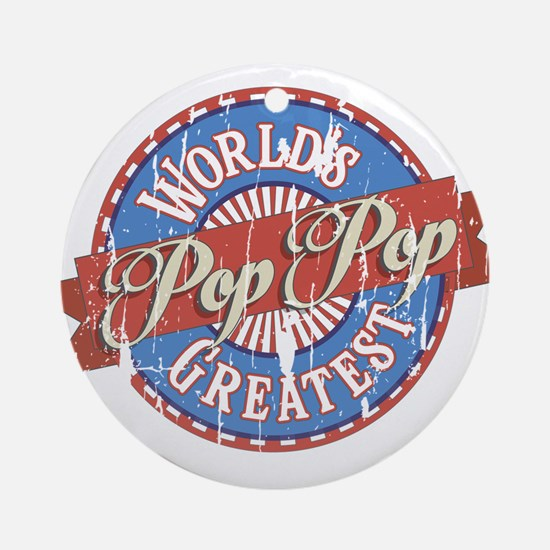 World's Greatest PopPop Ornament (Round)