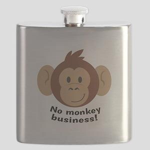 No Monkey Business Flask