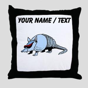 Custom Cool Armadillo Throw Pillow
