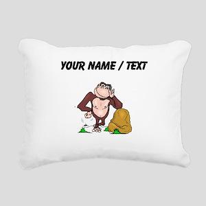 Custom Cartoon Ape Rectangular Canvas Pillow