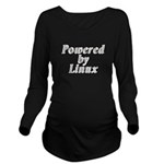 Powered by Linux - Long Sleeve Maternity T-Shirt