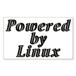 Powered by Linux - Sticker (Rectangle 10 pk)