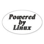 Powered by Linux - Sticker (Oval 10 pk)