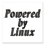 Powered by Linux - Square Car Magnet 3