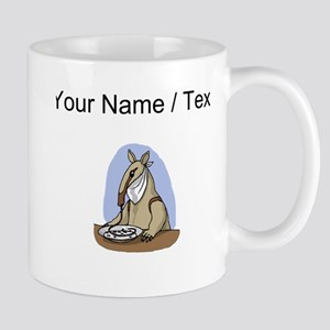 Custom Anteater Eating At Table Mugs