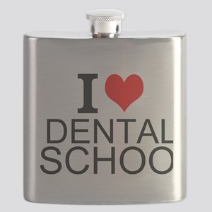 I Love Dental School Flask