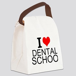I Love Dental School Canvas Lunch Bag