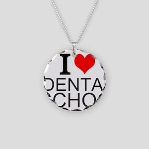 I Love Dental School Necklace