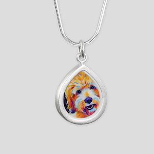Leo Silver Teardrop Necklace