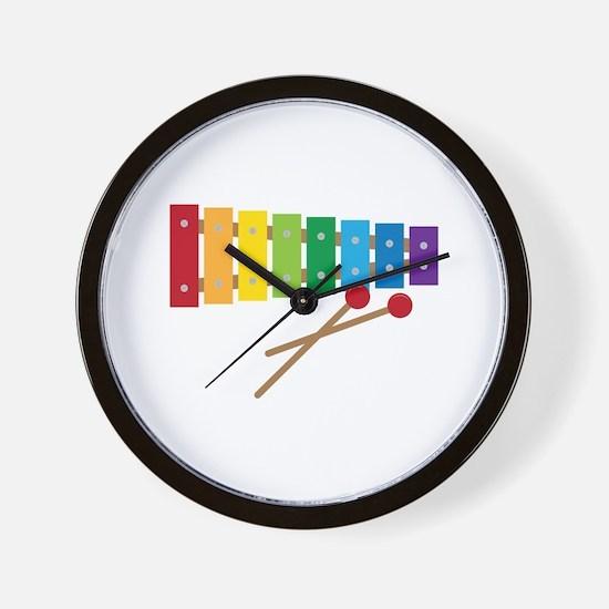 Xylophone Wall Clock