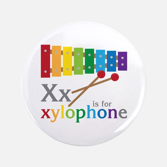 """X or Xylophone 3.5"""" Button"""