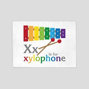 X or Xylophone 5'x7'Area Rug