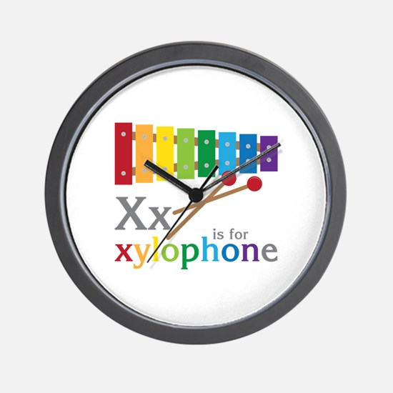 X or Xylophone Wall Clock