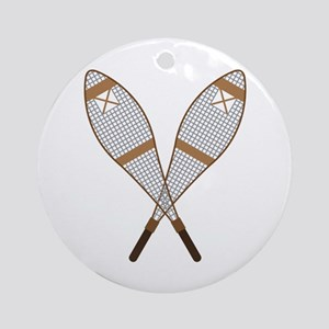 Snow Shoes Ornament (Round)