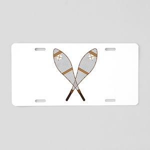 Snow Shoes Aluminum License Plate
