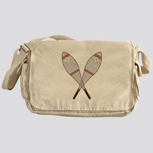 Snow Shoes Messenger Bag