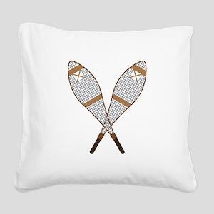 Snow Shoes Square Canvas Pillow