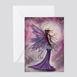 Starlit Amethyst Fairy Art Greeting Cards