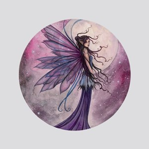"Starlit Amethyst Fairy Art 3.5"" Button"