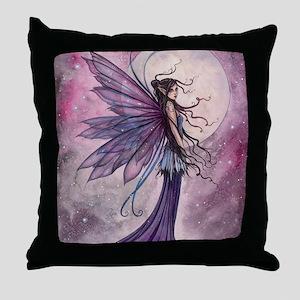 Starlit Amethyst Fairy Art Throw Pillow