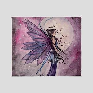 Starlit Amethyst Fairy Art Throw Blanket