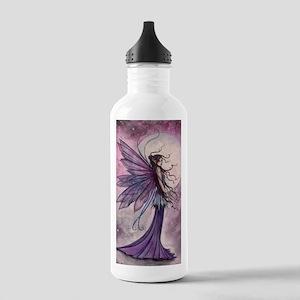 Starlit Amethyst Fairy Art Water Bottle