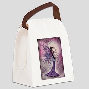 Starlit Amethyst Fairy Art Canvas Lunch Bag