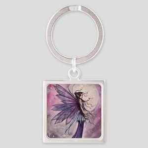 Starlit Amethyst Fairy Art Keychains