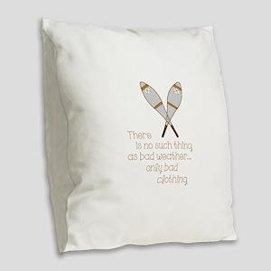 Bad Weather Burlap Throw Pillow
