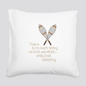 Bad Weather Square Canvas Pillow