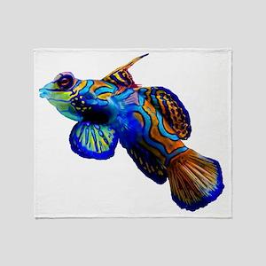 Exotic Fish by Bluesax Throw Blanket
