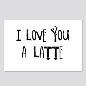 I love you a Latte Postcards (Package of 8)