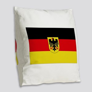 German COA flag Burlap Throw Pillow