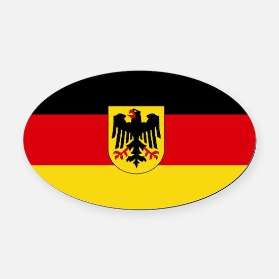 German COA flag Oval Car Magnet